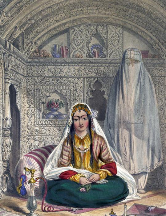 Дамы из Кабула, 1848 год. \ Фото: medium.com.