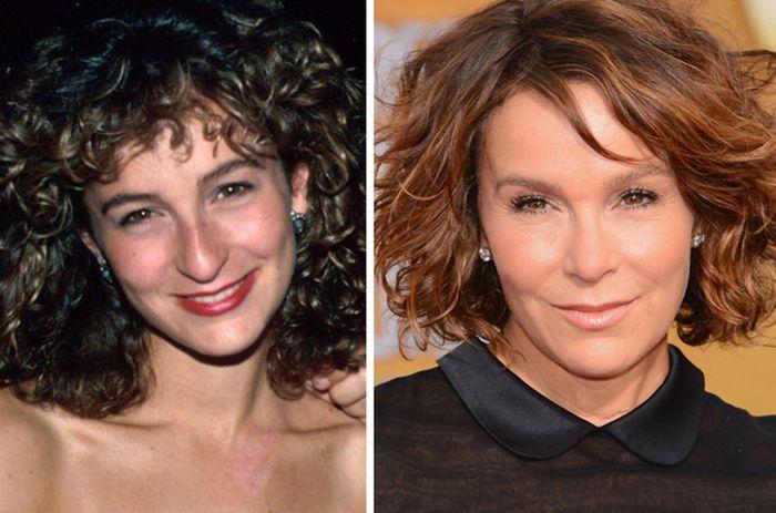 До и после: Дженнифер Грей.
