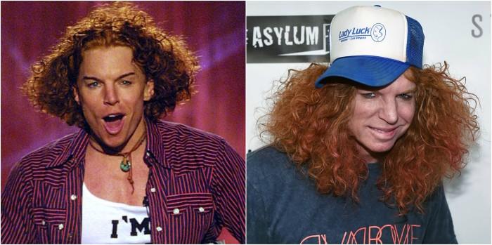 До и после: Кэррот Топ.