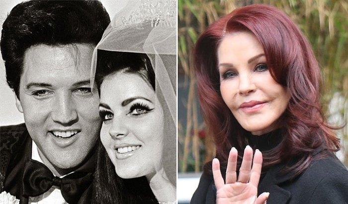 До и после: Присцилла Пресли.
