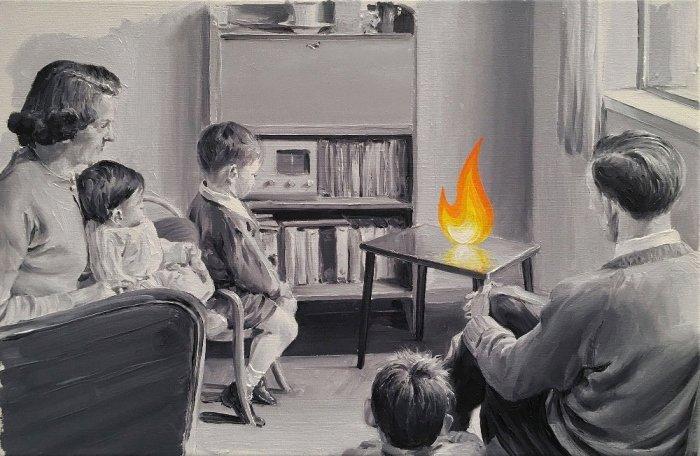 Семейный очаг. Автор: Paco Pomet.