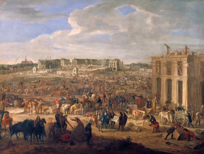 Строительство Версаля.