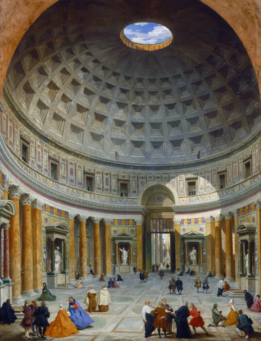 Интерьер Пантеона, Джованни Паоло Паннини, ок. 1734 года.