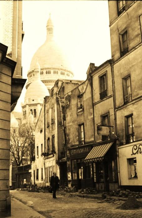 Сакре-Кер, Париж, 1956 год. Автор: Maurice Sapiro.