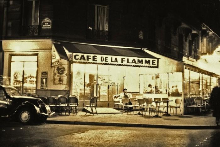 Café de la Flamme, Париж, 1956 год. Автор: Maurice Sapiro.