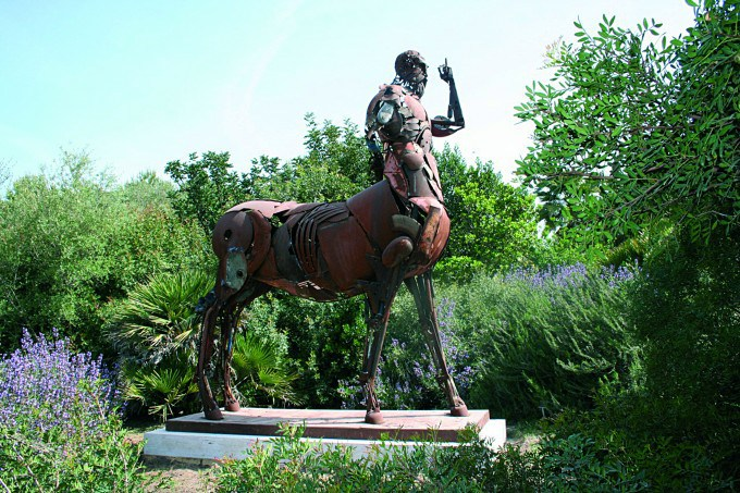 Хирон (Chirone). Металлические скульптуры от Патрика Ало (Patrick Alo).