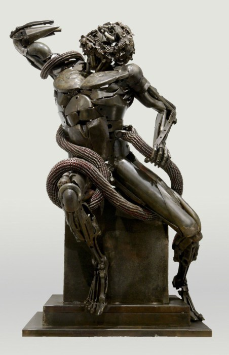 Лаокоон (Laocoonte). Металлические скульптуры от Патрика Ало (Patrick Alo).