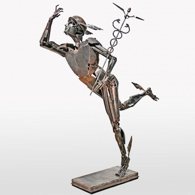 Меркурий (Mercurio). Металлические скульптуры от Патрика Ало (Patrick Alo).
