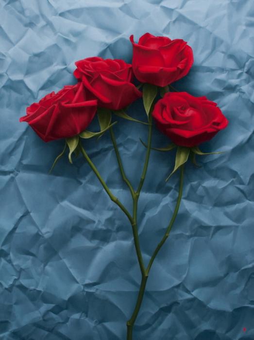 Красные розы. Автор работы: Patrick Kramer.
