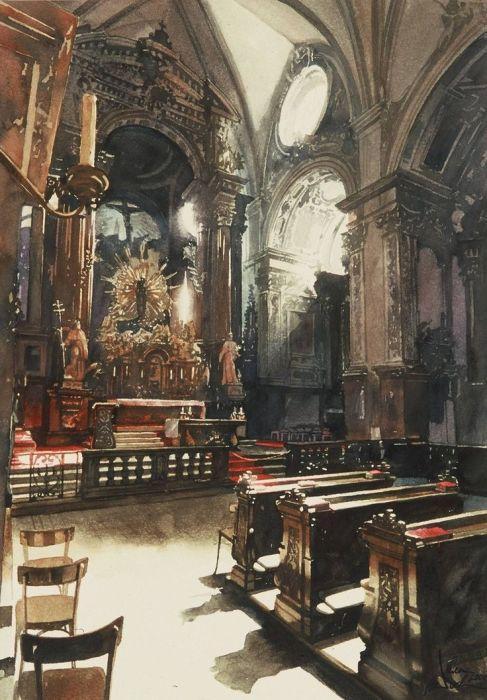 В церкви. Автор: Paul Dmoch.
