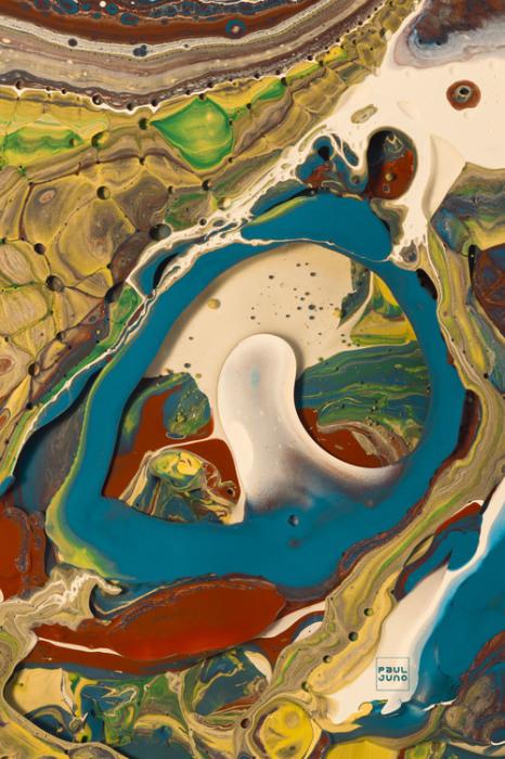 Яркие и эффектные абстрактные работы Поля Джуно (Paul Juno).