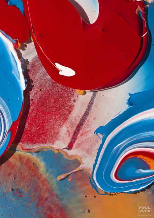 Красок много не бывает. Абстрактные работы Поля Джуно (Paul Juno).
