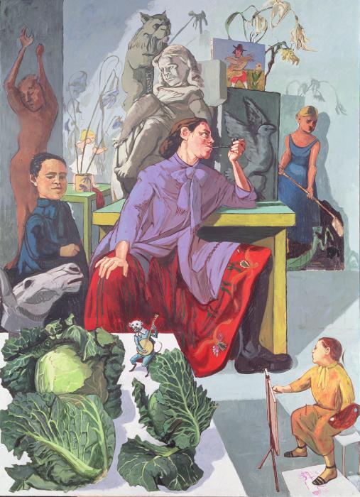 Художница в своей студии, Паула Рего, 1993 год. \ Фото: hoxtonradio.com.