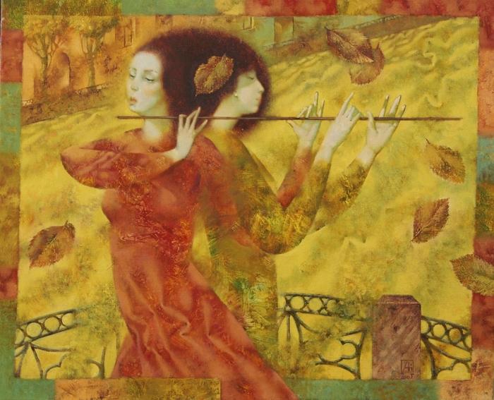 Осень на мосту. Автор: Павел Антипов.