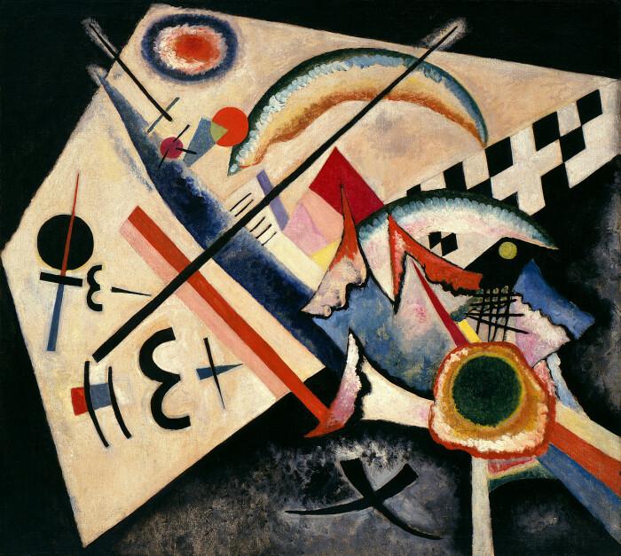 Белый крест,  Василий Кандинский, 1922 год. (Данное произведение искусства находится в коллекции Пегги Гуггенхайм). \ Фото: blogspot.com.