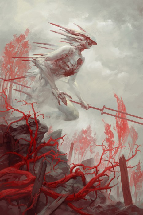 Гадриэль - ангел войны. Автор иллюстрации: Питер Морбахер (Peter Mohrbacher).