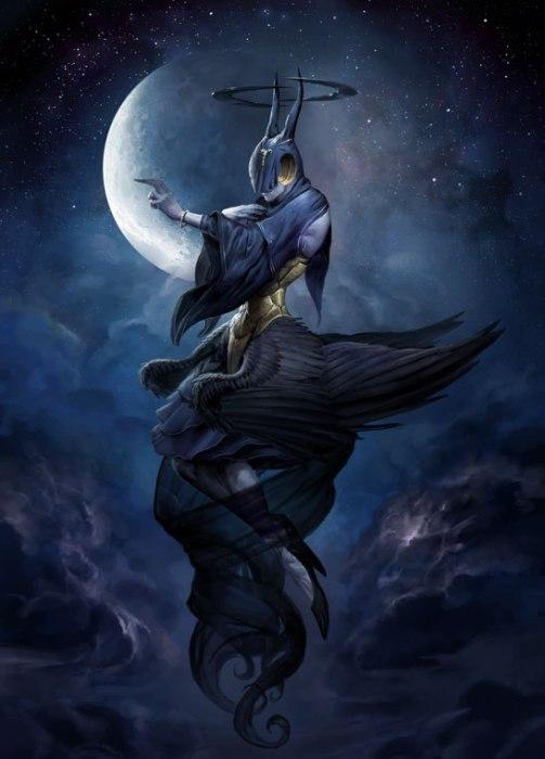 Лилиэль - ангел ночи. Автор иллюстрации: Питер Морбахер (Peter Mohrbacher).