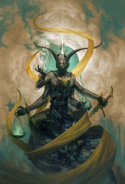 Задкиил - ангел милосердия. Автор иллюстрации: Питер Морбахер (Peter Mohrbacher).