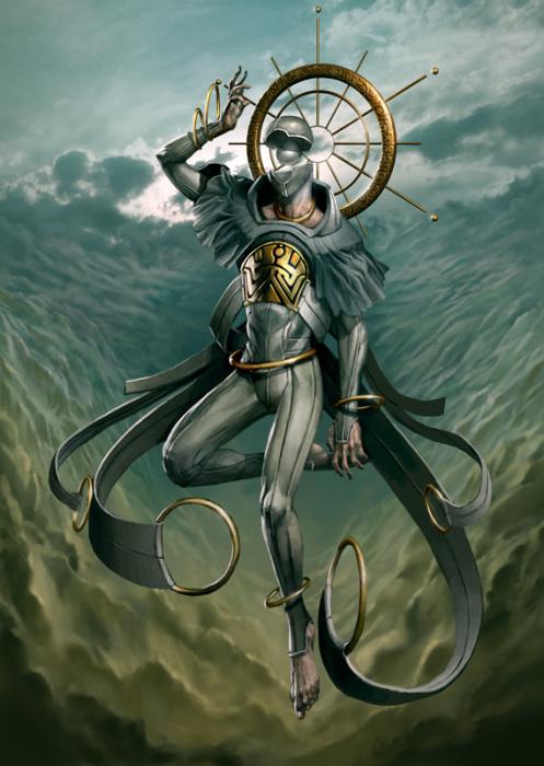 Сахакиэль - ангел неба. Автор иллюстрации: Питер Морбахер (Peter Mohrbacher).