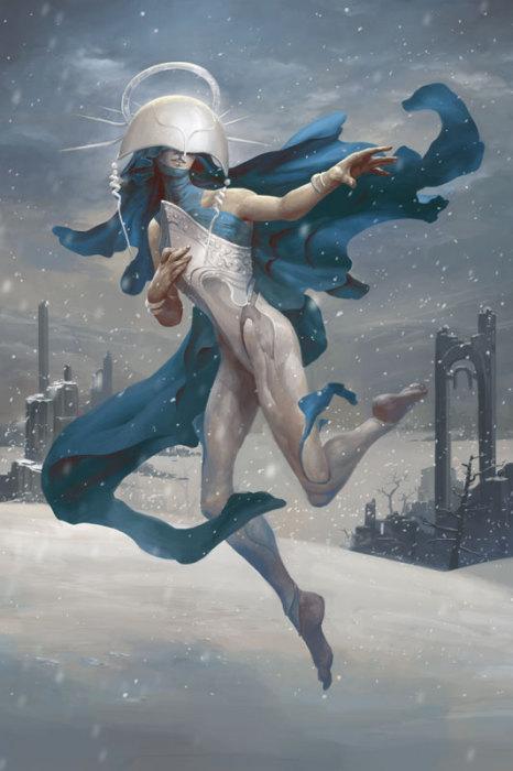Шелигеэль - ангел снега. Автор иллюстрации: Питер Морбахер (Peter Mohrbacher).