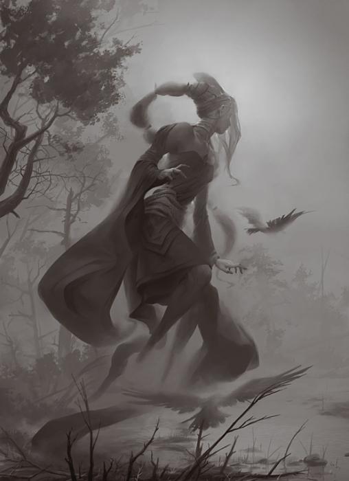 Чазакиэль - ангел тумана. Автор иллюстрации: Питер Морбахер (Peter Mohrbacher).