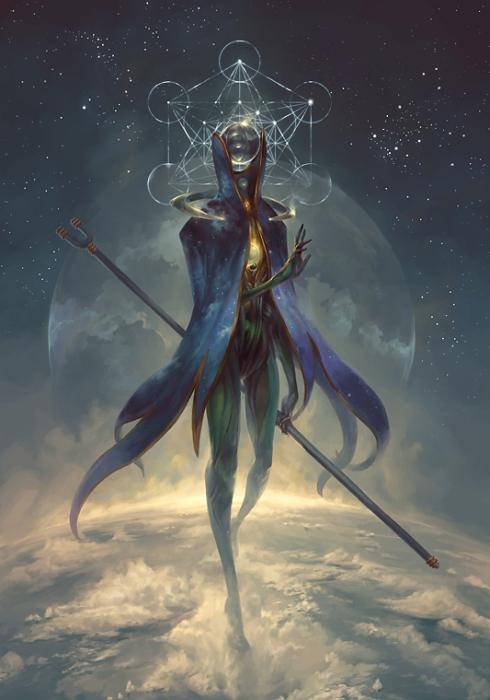 Эстибус - ангел гадания. Автор иллюстрации: Питер Морбахер (Peter Mohrbacher).