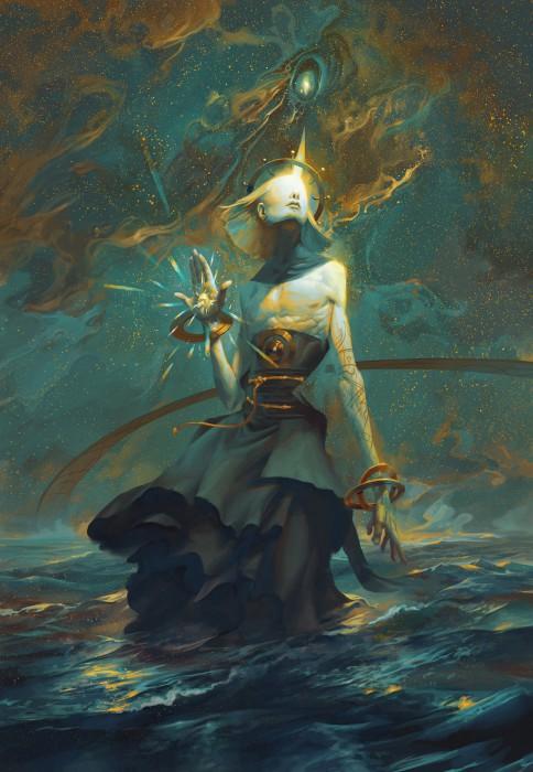 Кокабиэль - ангел звезды. Автор иллюстрации: Питер Морбахер (Peter Mohrbacher).