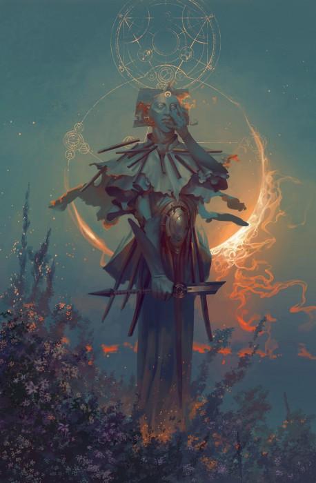 Самшиэль - ангел затмения. Автор иллюстрации: Питер Морбахер (Peter Mohrbacher).