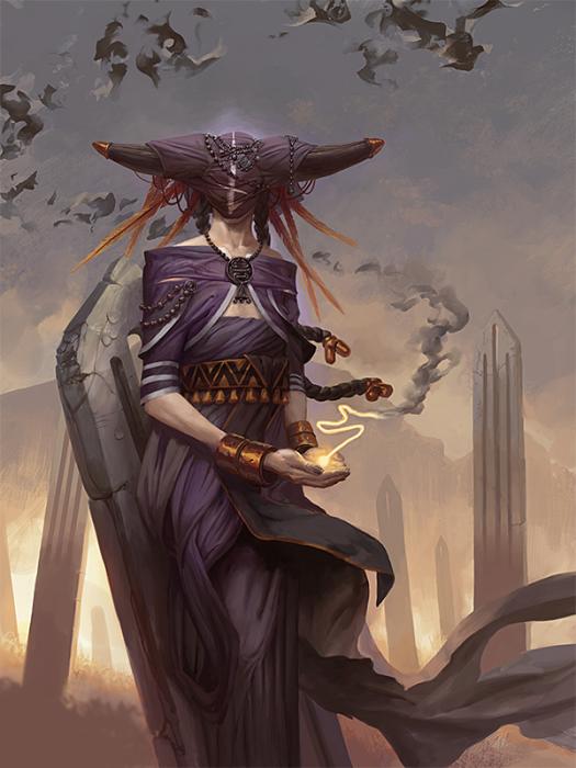Пенемуе - ангел знаний. Автор иллюстрации: Питер Морбахер (Peter Mohrbacher).