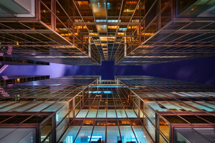 Золотые башни. Яркие абстрактно-архитектурные фотографии Питера Стюарта (Peter Stewart).
