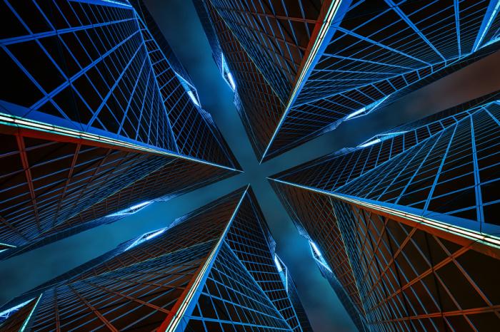 Башня Х. Яркие абстрактно-архитектурные фотографии Питера Стюарта (Peter Stewart).
