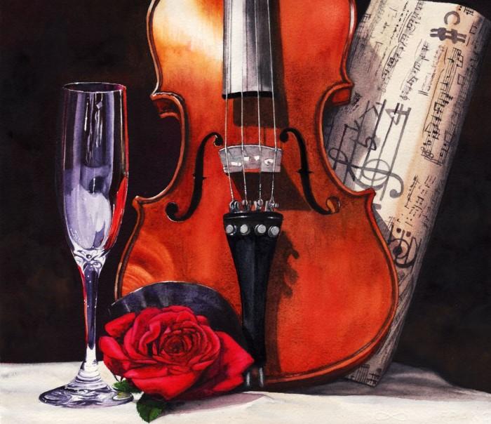 Молчаливая скрипка. Автор: Peter Williams.