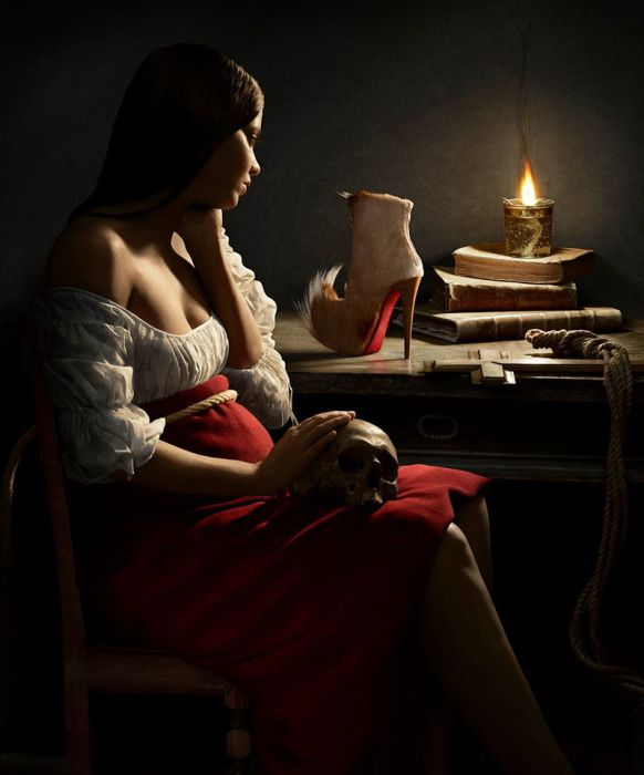 По мотивам знаменитых полотен. Современный фотограф: Питер Липпманн (Peter Lippmann).