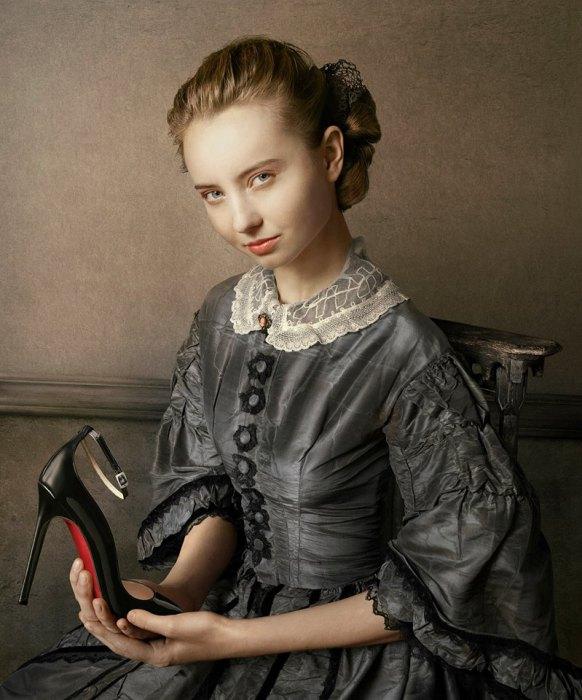 По мотивам знаменитых картин. Современный фотограф: Питер Липпманн (Peter Lippmann).