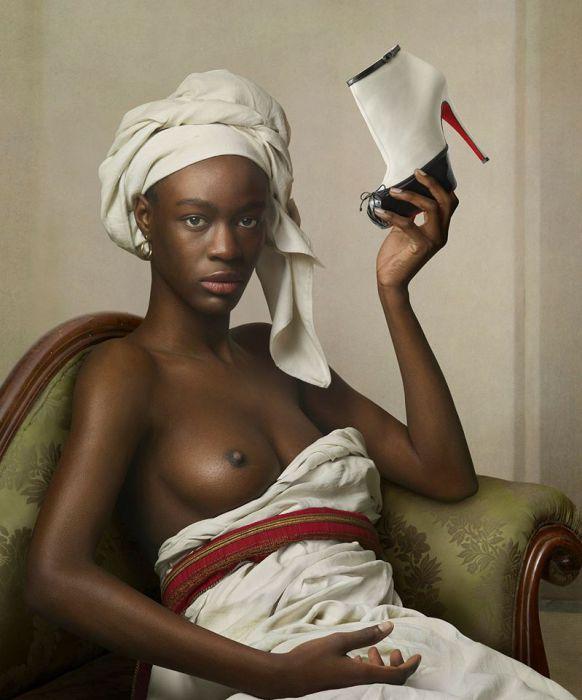 По мотивам картин Бенуа. Современный фотограф: Питер Липпманн (Peter Lippmann).