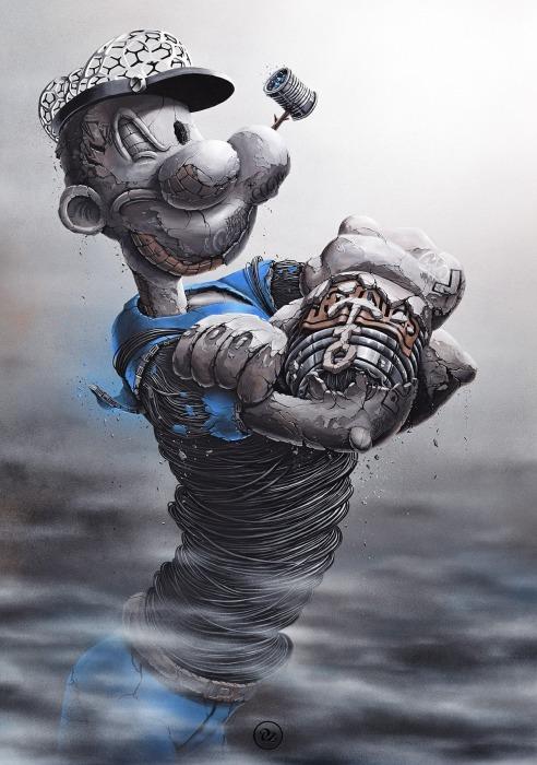 Приключения морячка Папая. Автор: Pez.