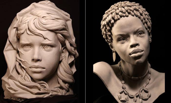 Портретные скульптуры Филиппа Фараута.