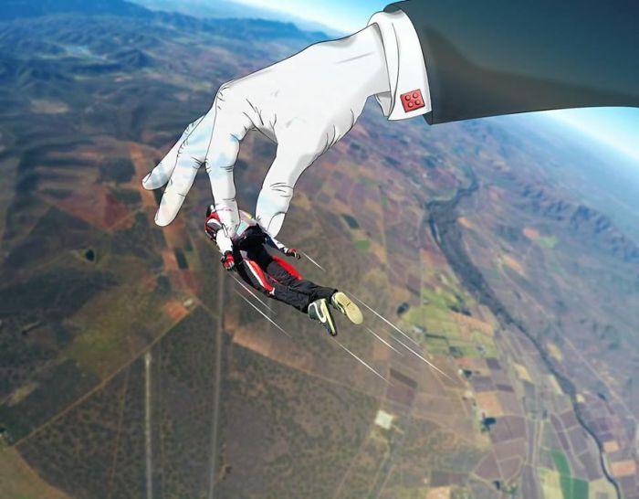 Состояние эйфории во время полёта. Автор: Phillip Van Coller.