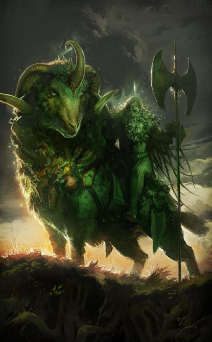 Зелёный рыцарь. Автор: Pierre Droal.