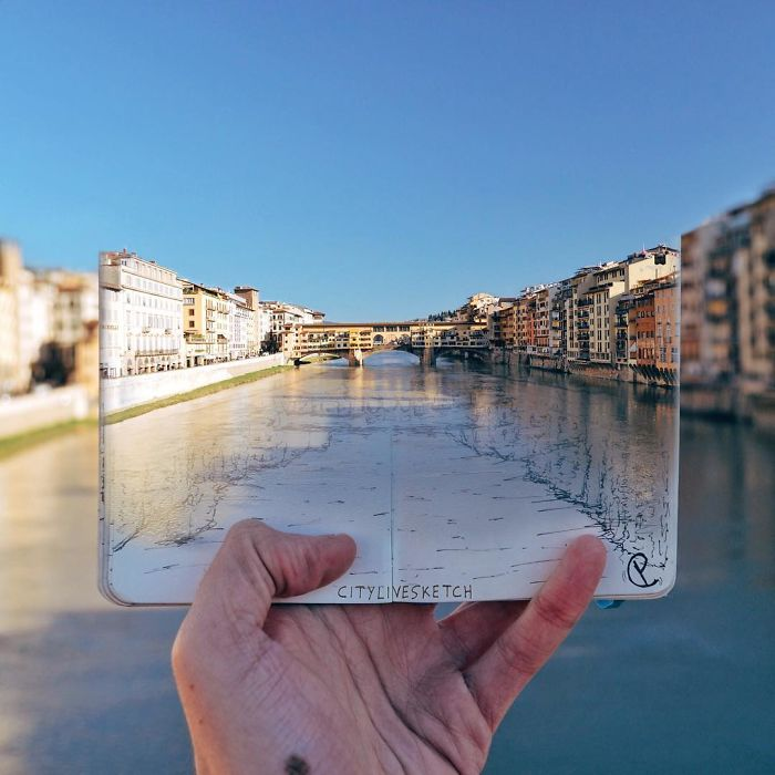 Мост Понте Веккьо, Флоренция. Автор: Pietro Cataudella.