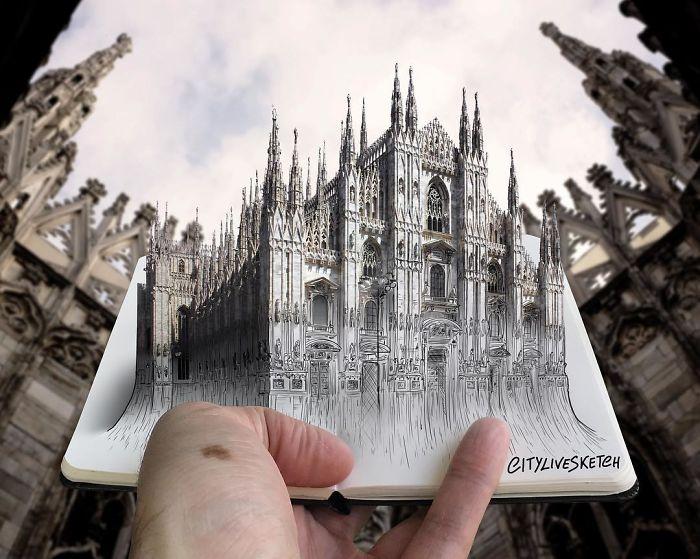 Миланский собор. Автор: Pietro Cataudella.