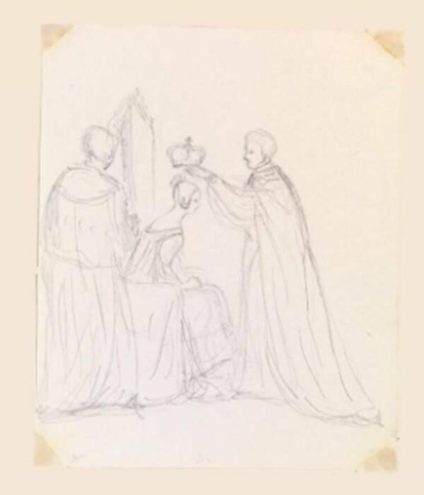 Эскиз коронации королевы Виктории. \ Фото: indianexpress.com.