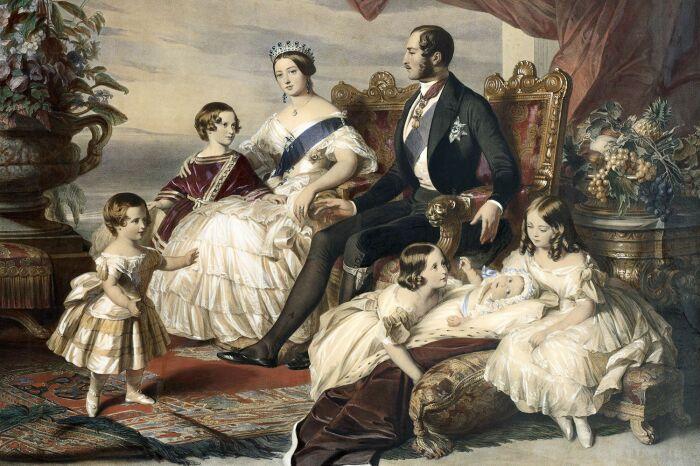 Семья королевы Виктории. \ Фото: pinterest.ca.