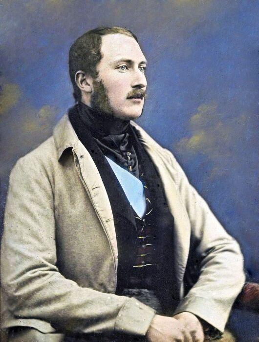 Ручной дагерротип принца Альберта, около 1848 года. \ Фото: elojoenelcielo.com.