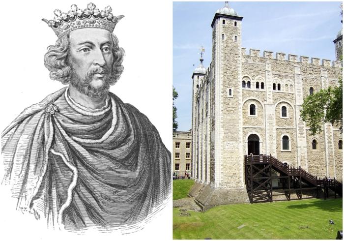 Слева: Король Англии Генрих III. Справа: Белая Башня. \ Фото: yandex.ua.