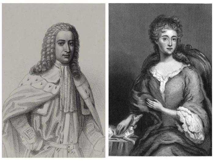 Слева: Якобит Уильям Максвелл. Справа: Леди Уинифред Максвелл. \ Фото: undiscoveredscotland.co.uk.