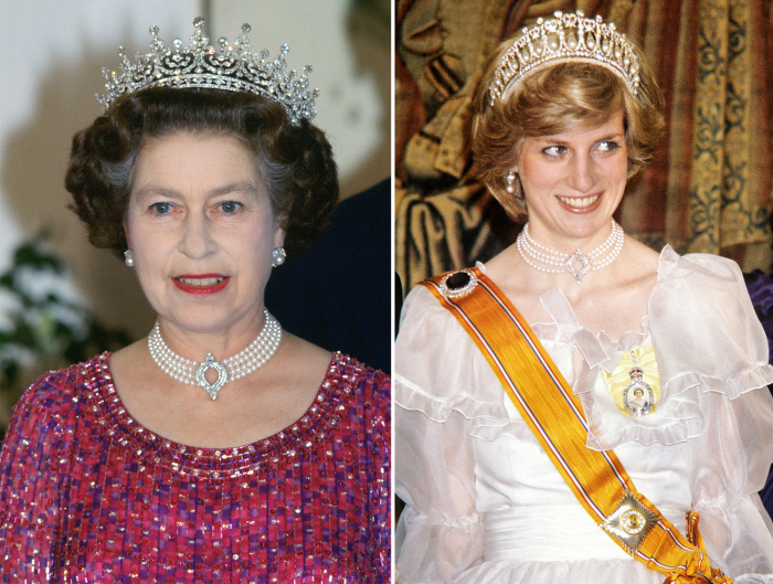 Королева Елизавета.| Принцесса Диана. | Фото: harpersbazaar.com.ua.