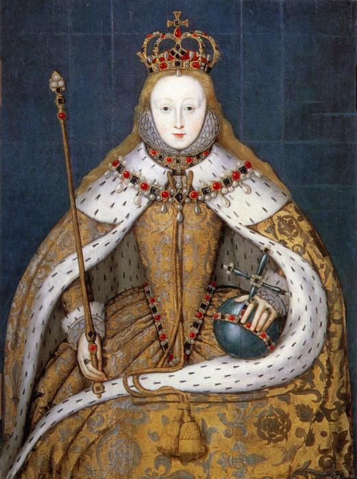 Елизавета I в коронационных одеждах. \ Фото: commons.wikimedia.org.