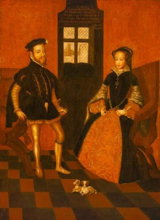 Мария Тюдор с мужем. \ Фото: cunman.com.