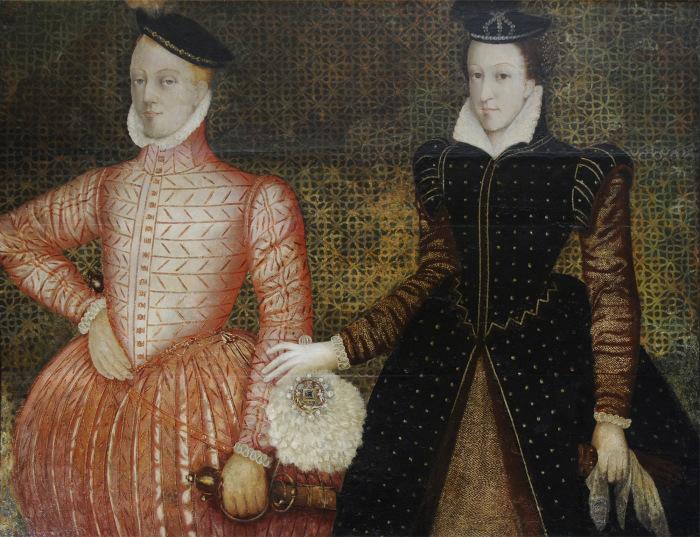 Портрет Марии, королевы Шотландской, и лорда Дарнли, 1565 г. \ Фото: bl.uk.